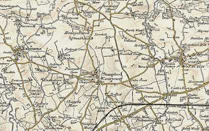 Old map of Langmead in 1899-1900