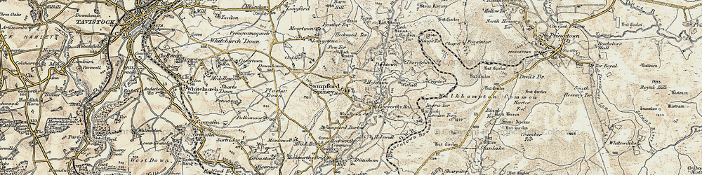 Old map of Withill in 1899-1900
