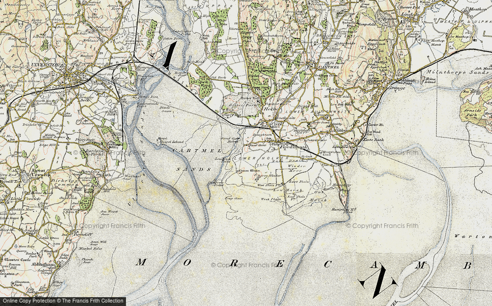 Old Map of Historic Map covering Lenibrick Point in 1903-1904
