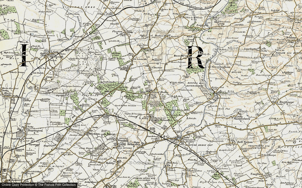 Old Map of Sand Hutton, 1903 in 1903
