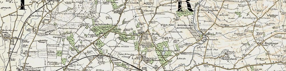 Old map of Sand Hutton in 1903