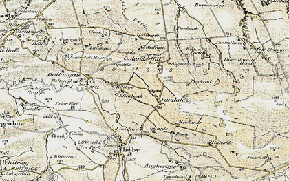 Old map of Angerton Bank in 1901-1904