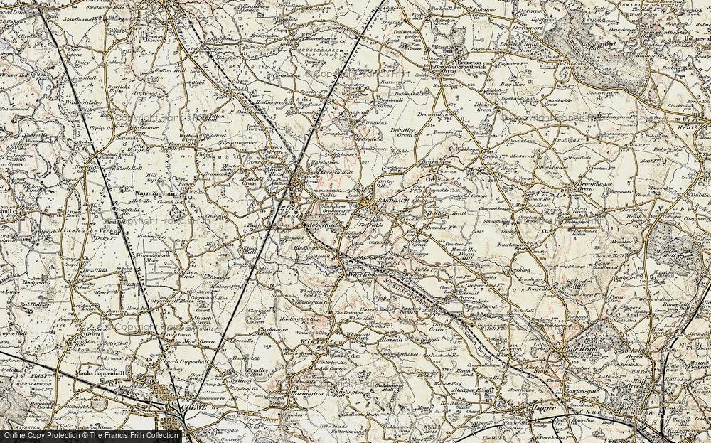 Old Map of Sandbach, 1902-1903 in 1902-1903