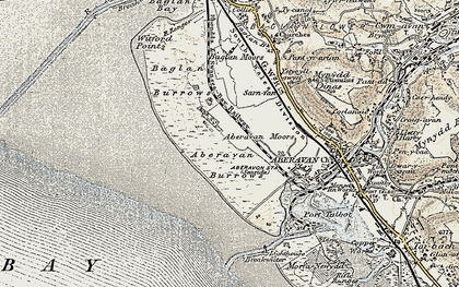 Old map of Witford Point in 1900-1901