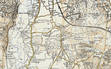 Old map of Avon Tyrrell in 1897-1909