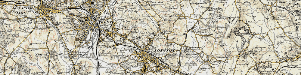 Old map of Sandford Hill in 1902