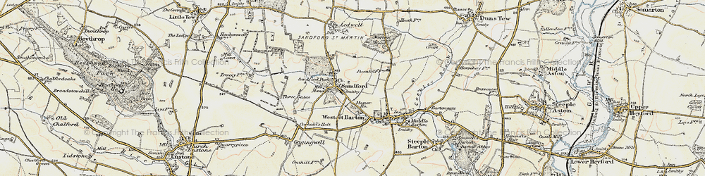 Old map of Worton Wood in 1898-1899