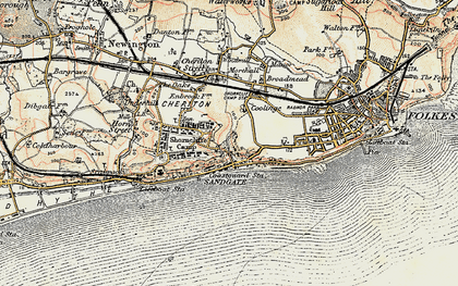 Old map of Sandgate in 1898-1899