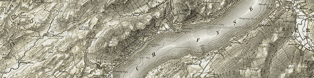Old map of Whitebridge Bay in 1906-1907