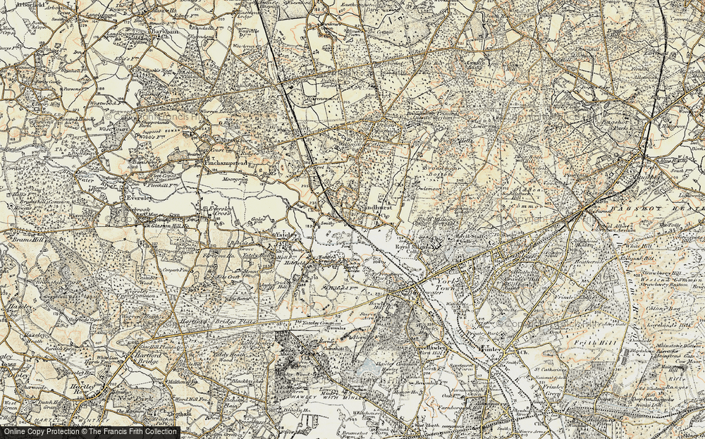 Old Map of Sandhurst, 1897-1909 in 1897-1909