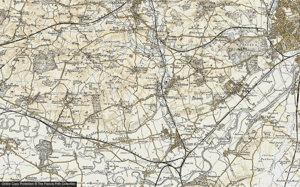 Old Map of Sandiacre, 1902-1903 in 1902-1903
