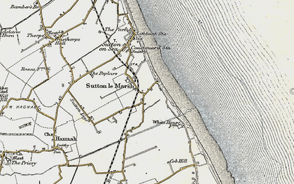 Old map of Sandilands in 1902-1903