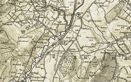 Old map of Woodlands in 1904-1905