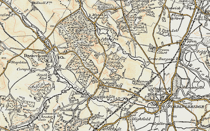 Old map of Wilkins's Coomb in 1897-1909