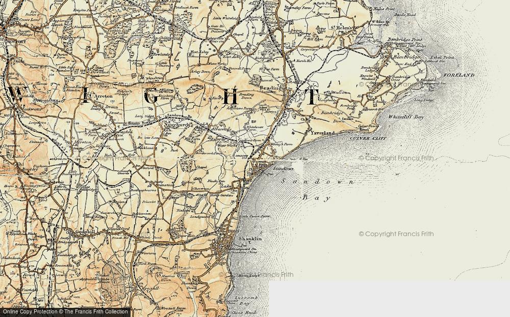 Old Map of Sandown, 1899 in 1899