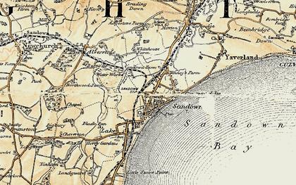 Old map of Sandown in 1899
