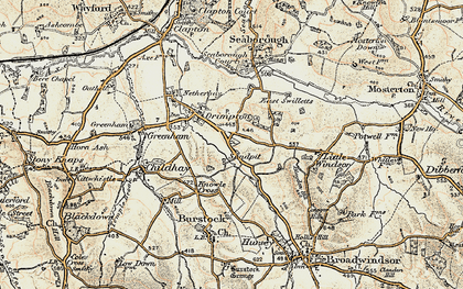 Old map of West Swilletts in 1898-1899