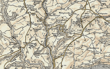 Old map of Sandplace in 1900