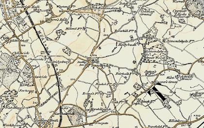 Old map of Sandridge in 1898