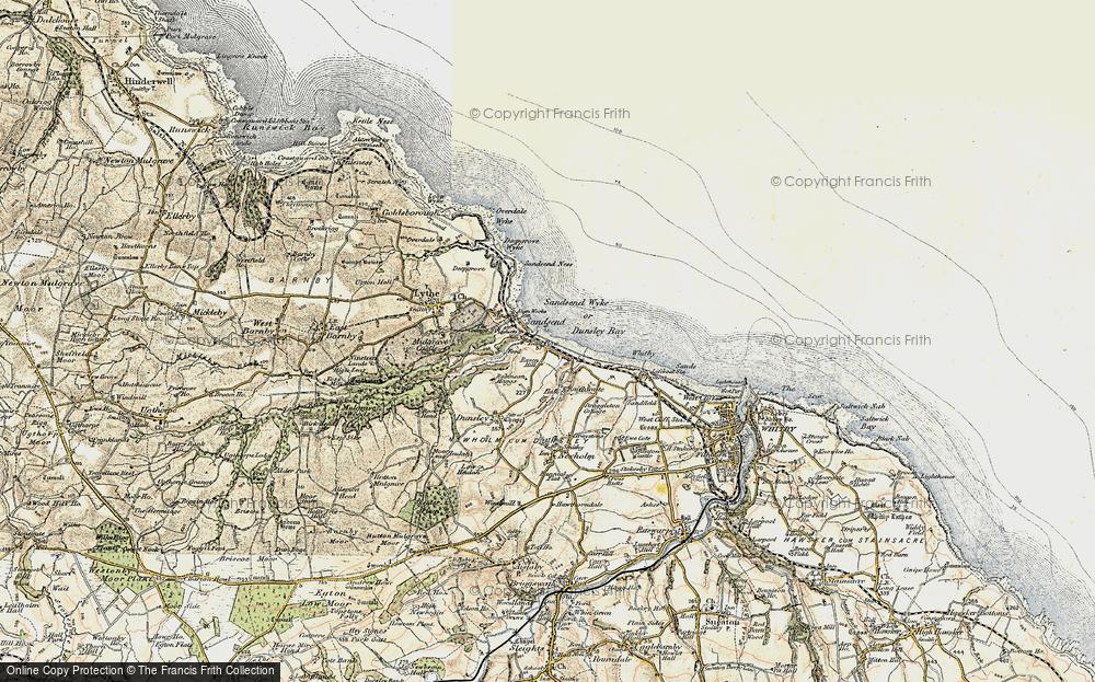 Old Map of Sandsend, 1903-1904 in 1903-1904