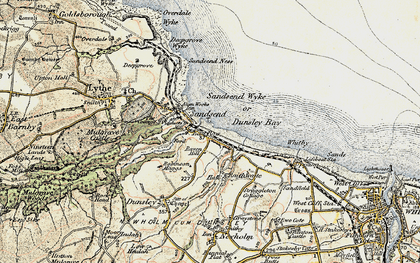 Old map of Sandsend in 1903-1904