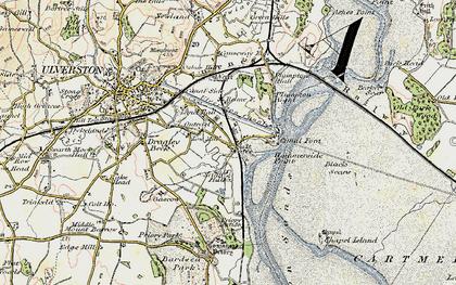 Old map of Sandside in 1903-1904