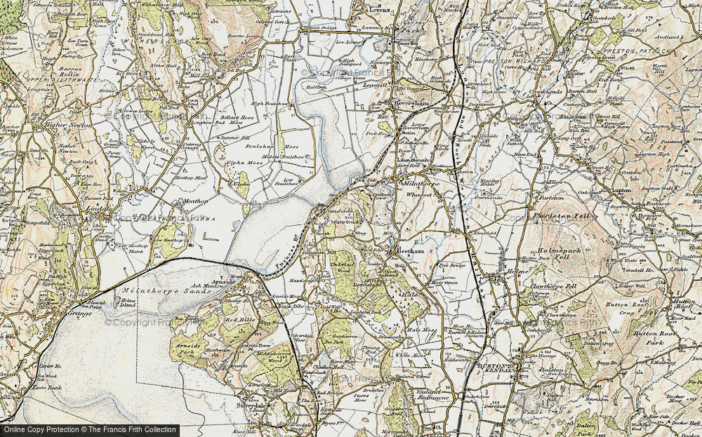 Old Map of Historic Map covering Wray Cott in 1903-1904