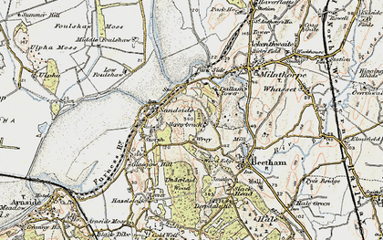 Old map of Wray Cott in 1903-1904