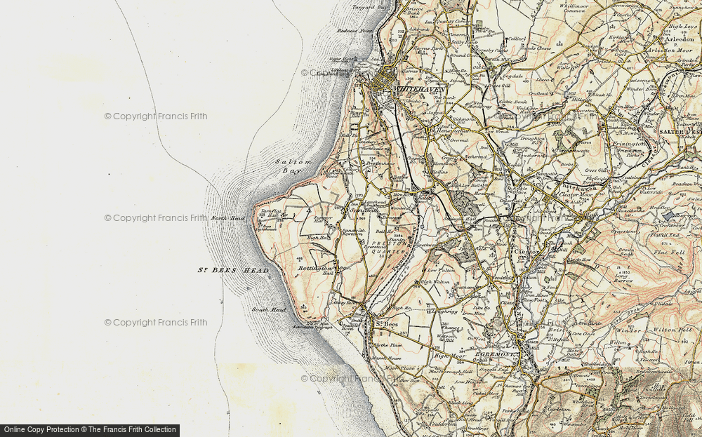 Old Map of Historic Map covering Lanehead in 1901-1904