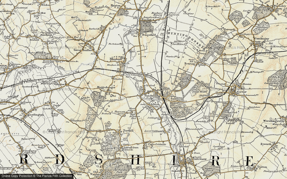 Old Map of Sandy, 1898-1901 in 1898-1901