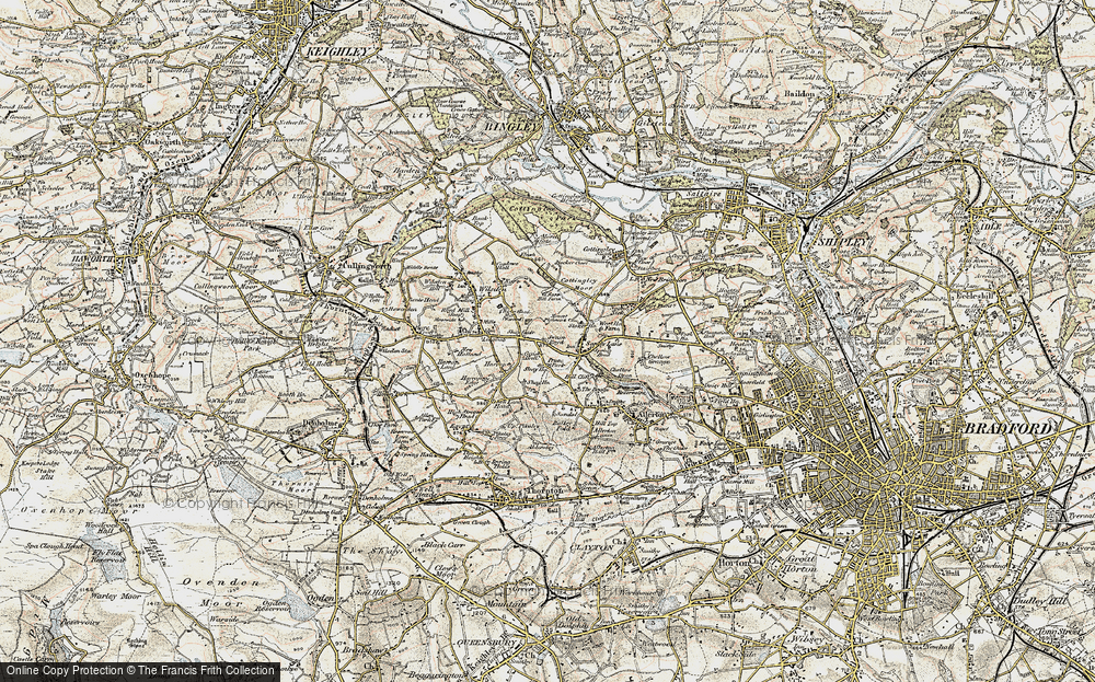Old Map of Historic Map covering Bailey Fold in 1903-1904
