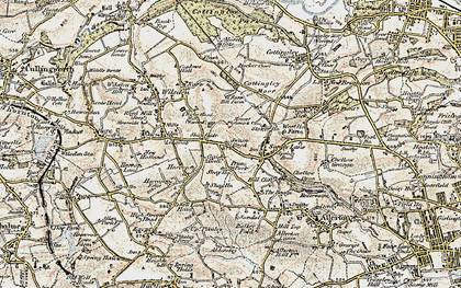 Old map of Bailey Fold in 1903-1904