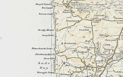 Old map of Sandy Mouth in 1900