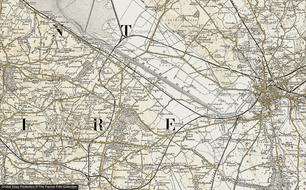 Old Map of Sandycroft, 1902-1903 in 1902-1903