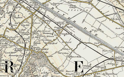 Old map of Sandycroft in 1902-1903