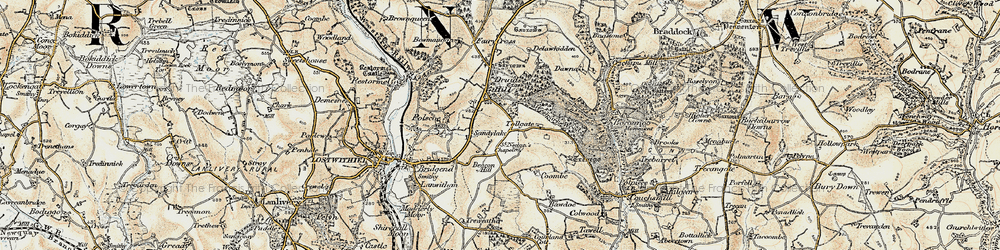 Old map of Tollgate in 1900