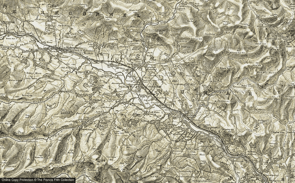 Old Map of Sanquhar, 1904-1905 in 1904-1905