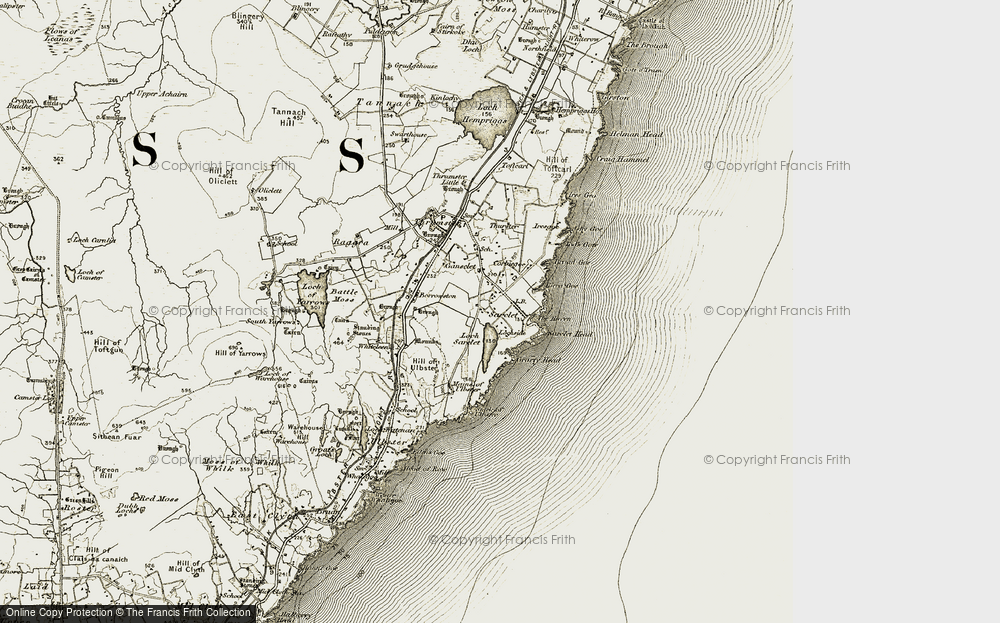 Old Map of Historic Map covering Tod's Gote in 1912