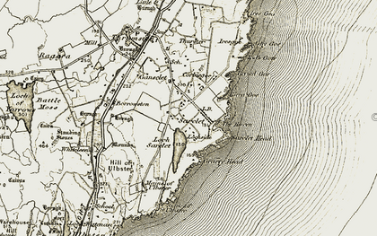 Old map of Tod's Gote in 1912