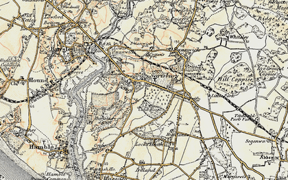 Old map of Sarisbury in 1897-1899
