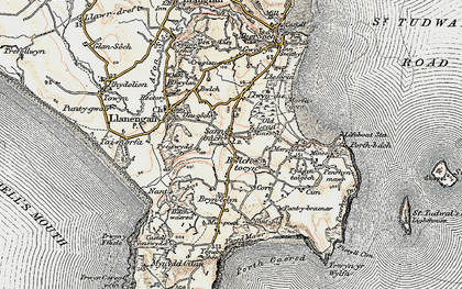 Old map of Sarn-bâch in 1903
