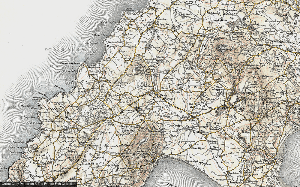 Old Map of Historic Map covering Afon Soch in 1903