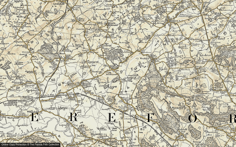 Old Map of Sarnesfield, 1900-1901 in 1900-1901