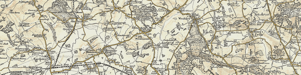 Old map of Sarnesfield in 1900-1901