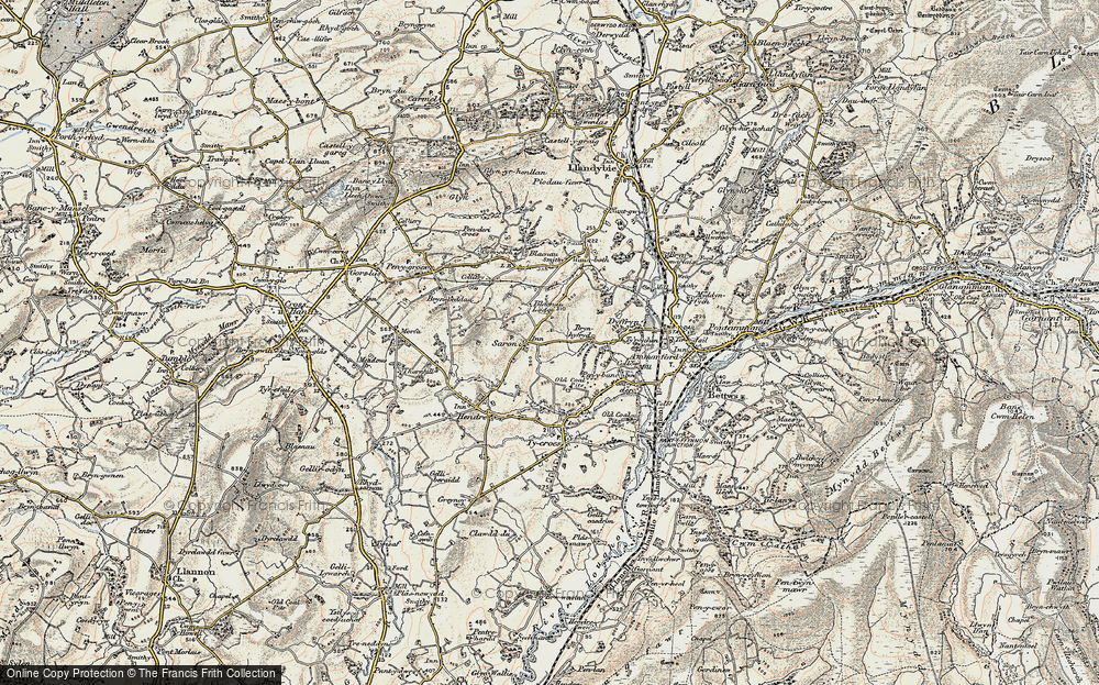 Old Map of Saron, 1900-1901 in 1900-1901