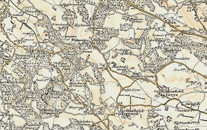 Old map of Kingwood Common in 1897-1900