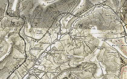 Old map of Yarrow Knowe in 1901-1904