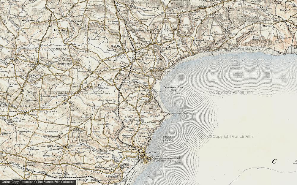 Old Map of Saundersfoot, 1901 in 1901