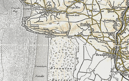 Old map of Saunton in 1900