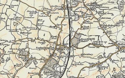 Old map of Sawbridgeworth in 1898-1899